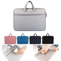 macbook hava koruma kılıfı toptan satış-Astar çanta Darbeye Su Geçirmez Macbook ipad hava pro için dizüstü Evrak çantası 13 14 15.6 inç laptop çanta tablet koruyucu kılıfları DN006