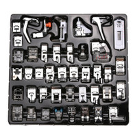 Wholesale Wholesale Parts Sewing Machine - High Quality 42pcs Domestic Sewing Machine Presser Foot Feet Kit Set With Box For Brother Singer Janom Free Shipping