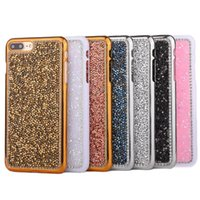 Wholesale Diamond Cellphone - Luxury Bling Glitter Crystal Rhinestone Diamond Soft TPU Case For iPhone 5 7 6 6S Plus 4.7 5.5 CellPhone Cover Capa