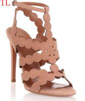 Wholesale strap open toe heel online - Black Sheepskin Nude Patent Leather Poined Toe Women Pumps mm Fashion High Heels Shoes for Women Wedding shoes