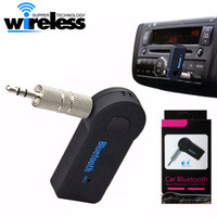 Wholesale Headset Phone Receiver - Universal 3.5mm Bluetooth Car Kit A2DP Wireless AUX Audio Music Receiver Adapter Handsfree with Mic For Phone MP3 Retail Box
