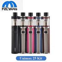 Wholesale E Cigarette Stater Kits - Original Joyetech Unimax 25 Stater Kit 25mm Diameter 3000mah with 5ml Top Refilling Unimax Tank E Cigarette