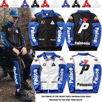 Wholesale Hot Slim Patch - PALACE Jacket Coat Hot Brand Racing Jacket Hoodies Teenager Popular Hip Hop Sportwear Triangle Printed Patch Cotton Jacket