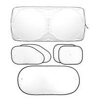 Wholesale Heat Shield Cover - Cars Foldable Windshield Visor Cover Sun Shade Heat Shield Block Front Window Sunshade UV Protect Auto Sun Visor Car-covers 6 Piece