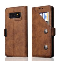 Wholesale Galaxy Note Credit Card - For Samsung Note 8 Wallet Case Luxury Ultra-thin Wallet PU Leather Case Cover with Credit Card Holder Stand For Samsung Galaxy Note 8