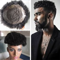 Wholesale Human Hair Toupee Men - Best Selling Natural Black Indian Virgin Human Hair Kinky Twist Afro Toupee for Black Men Free Shipping