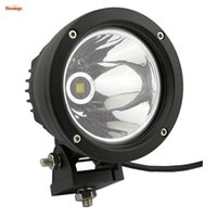 Wholesale Round Atv Headlight - 5 Inch Round 25W LED Headlight Tuning Light For Offroad Wrangler TJ CJ JK Defender Offroad 4*4 SUV ATV