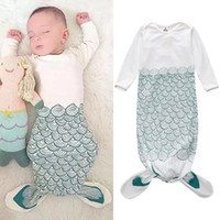 Wholesale thicken baby sleeping bag - Wholesale- IMSHIE Baby's Romper Anti-kick Sleeping Bag Mermaid Sleeping Bag Newborn Thickened Cotton Sleeping Bag Baby Swaddle Blankets