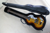Wholesale Hofner Bass Strings - China guitar factory wholesale new hofner bass 4 Strig BASS SUNBURST COLOR with hard case free shipping 1 2