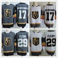 Wholesale Hockey Jersey Blank Black - cheap Mens Vegas Golden Knights Jerseys #17 Gray White #29 Marc-Andre Fleury Blank No Name Number Plain Stitched 2017 New BrandJersey S-3XL