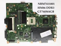 Wholesale Acer Laptops Support - Laptop Motherboard for Acer Aspire V3-772G NBM7411001 EA VA70 HW REV2.0 HM86 PGA947 DDR3 GT740M 4GB 100% Fully Tested