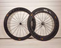 Wholesale Road Bike Race Wheels - black logos 3k or UD carbon wheels A271 Hub 700c rim 50mm+88mm full carbon fiber road bike wheels bicycle bicicleta racing compose Wheels