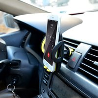 Wholesale Car Windshield Stand Phone - Car Mount Universal Windshield Dashboard Mobile Phone Car Holder 360 Degree Rotation Car Holder air outlet Stand Support 6.0 inch