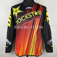 Wholesale Dh Cycling Jerseys - 2016 Motorcycle Motocross Rockstar Jersey MTB ATV MX DH Men Dirt Bike Cycling Jersey Quick dry 100% polyester M-XXL