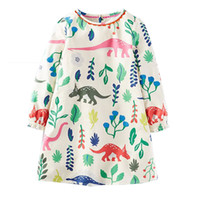 Wholesale Chinese Long Sleeve Clothes - Princess Dress Long Sleeve 2017 Brand Spring Autumn Baby Girls Dress with Pocket Kids Tunic Jersey Dresses for Girls Clothes