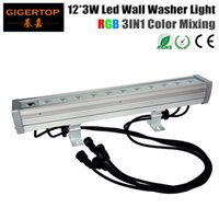 Lavado De Pared Color Led Baratos-TIPTOP 12 * 3W 3in1 Tricolor Led arandela de pared Modo DMX al aire libre, arandela de pared LED RGB, 3 / 7Channel 90V-240V pared de construcción lavado de inundación