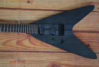 Wholesale V Guitar Neck - MAYONES 7 string electric guitar flying v mayones guitar Neck-through body black matte color custom guitar with free shipping