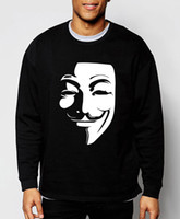 Wholesale Vendetta Clothing - Wholesale-V for Vendetta 2016 new autumn winter fashion Guy Fawkes cool sweatshirt hoodie men hip hop tracksuit streetwear brand clothing