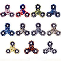Wholesale Wholesale Camo Material - High-end material quality Camo Fidget Spinner 3sides hand spinner LED camo hand spinner For Decompression Anxiety Toys