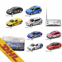 36pcs / lot Mix Order 1:53 RC 4CH Mini Racing Car 8 couleurs Coke Can Scale Cars LED Light Radio Télécommande Jouets pour enfants