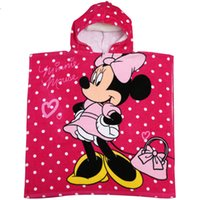 Wholesale Hooded Baby Bath Towels Wholesale - Free shipping 100%cotton velour reactive printed hooded baby bath towel cartoon character printed poncho beach towel 10pcs lot