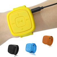 mini relógio natal venda por atacado-Atacado-Portable Sport Mp3 Player com Slot para cartão TF mais novo Mini relógios estilo Mp3 para presente de Natal Fashion Electronic Products