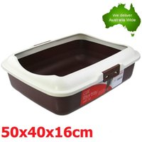 Wholesale Portable Hooded Cat Kitty Toilet Litter Tray Pet Pan New VIC