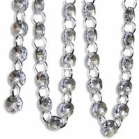acryl kristall perle girlande großhandel-1611 Freies Verschiffen 66 FT Crystal Clear Acryl Bead Garland Kronleuchter Hängende Hochzeitsdekoration