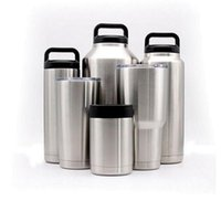 Wholesale Glasses For Drinking - Ramblers Tumblers Stainless Steel For YETI RTIC Style Wine Glass Cup Travel Vehicle Beer Mugs Vacuum Insulated Double Wall Drinking Cup