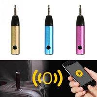 Wholesale Bluetooth Audio Plug - Car styling Bluetooth Receiver Mini Car AUX Audio Bluetooth Receiver Plug And Play
