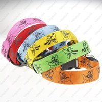 Wholesale Wholesale Dog Articles - New arrival Luminous pet LED collar luminous pet Fluorescent luminous cartoon dog collar Articles 6 colors Free shipping