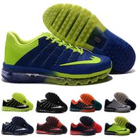 Wholesale Cheap Plus Size Flat Shoes - Free Shipping 2016 KPU running shoes sneakers black red sports shoes cheap blue green maxes training shoes plus Maxes Size 40-46