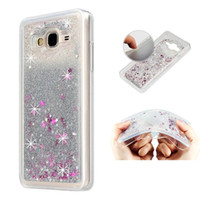 Wholesale Galaxy Star Covers - Diamond Quicksand Glitter Star Flowing Liquid Case Cover For Samsung Galaxy on5 on7 2016 J3 2017 J3 emerge J1 ACE J2 J5 J7 Prime Phone cases
