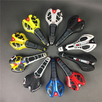 Wholesale Black Yellow Saddle - New leather prologo CPC road bike saddle black white red yellow blue mtb cycling bicycle cushion seat free shipping