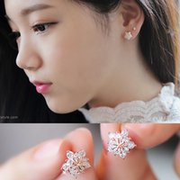 XS Acessórios Snowflakes Zircon Earrings Soft Mat para Mulheres Ear Clip On Earring Without Ear Hole B1752