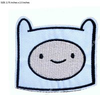 Wholesale Adventure Time Finn - Adventure Time Finn Head Embroidered LOGO TV Moive Series Iron On Patch Emo Goth Punk Customized patch available