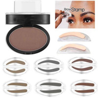 Wholesale Paint Stamps - China wholsale Eyebrow Makeup Powder palette Definition Brow Stamp Waterproof Paint Eyebrow Enhancer in stock