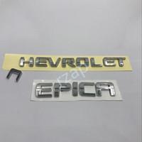 Wholesale Chevrolet Emblems Badges - 2Pcs lot For Chevrolet Epica Words Logo Car Rear Trunk 3D Chrome ABS Emblem Badge Sticker