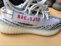 Wholesale Color Light Best - 8color 350v2 shoes new color Zebra brad best quality shoes with box Euro size 36-48 man woman sneakers right version fashion newest shoes