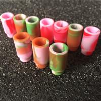 ingrosso testina di gocciolamento monouso di silicio-510 Boccaglio in silicone Coperchio punta a goccia Puntali monouso in silicone colorato Test rapido in gomma Test tappo per serbatoio RDA