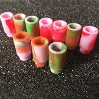 probador de goteo consejos al por mayor-510 Cubierta de boquilla de silicona Puntas de goteo Disposable Colorful Silicon Caps de prueba Consejos de prueba de goma Corta probador para tanque RDA