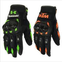 мотоциклетные байкерские перчатки оптовых-Оптовые-Pro-Biker летние зимы Полный Finger Мотоциклетные перчатки Gants Moto Luvas Мотокросс Кожаный мотоцикл Guantes Moto Racing Gloves