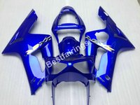 Wholesale Kawasaki Motorcycle Body Parts - Injection body parts fairing kit for Kawasaki Ninja ZX6R 2003 2004 blue motorcycle fairings set ZX6R 03 04 UY70
