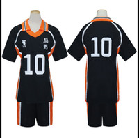 Wholesale cosplay hinata resale online - Haikyu Haikyuu Karasuno High School Uniform No Shouyou Hinata Cosplay Costume