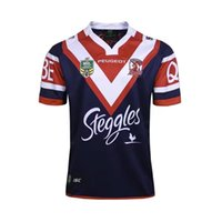 Wholesale Team Clothing Free Shipping - 2017 Australia Sydney Roosters champion AIG Supper Rugby Jersey All Black Rugby Shirt Teams Rugby Clothes Free Shipping