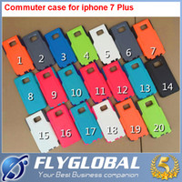 Wholesale Galaxy S4 Battery Cases - For iphone 7 7plus Commuter Hybird Case Shockproof Armor Cover Cases For Iphone 5 5s 6 6plus Samsung Galaxy S4 S5 S6 S7 Edge s8 with box