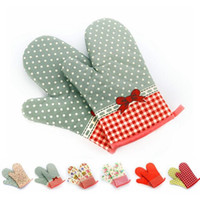 Wholesale Floral Print Oven Pot Holder Baking Cooking Mitts Heat Resistant Cotton Glove Single TOP1763