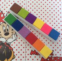 Wholesale Black Ink Pads - Multi Colour Small Cute Plastic Ink Pad Stamp Inkpad for DIY Black Cards Scrapbook Photo Album