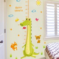Wholesale Measuring Can - Cartoon decoration stickers children's room can be removed waterproof wall stickers measuring height creative decorative wallpaper high qual