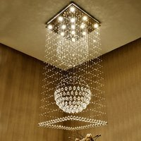 modern mall 25 30sqm led modern crystal chandeliers square k9 crystal chandelier lights - Modern Crystal Chandeliers